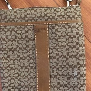 Authentic Coach small fabric messenger bag
